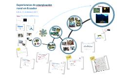 Experiencias de energización Rural en Ecuador