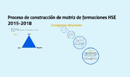 Proceso de construcción de matriz de formaciónes