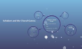 Schubert's Choral Output