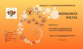PEDAGOGÍA SOCIAL PRESENTACIÓN