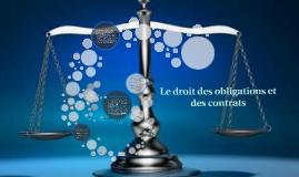 Le droit des obligations et des contrats