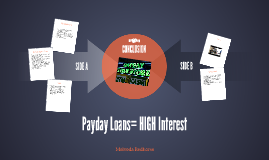 Payday Loans= HIGH Interest