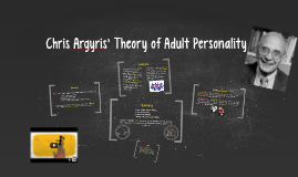 Chris Argyris' Theory of Adult Personality