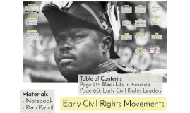2018_Early Civil Rights Movements