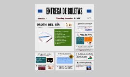 ENTREGA DE BOLETAS