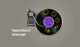 Temporal effects of indirect sound
