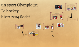 Copy of sport olympique: le hockey