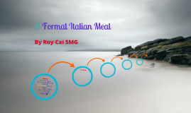 A Formal Italian Meal By Roy Cai 5MG