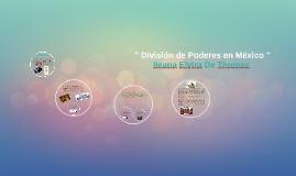 Copy of División de Poderes