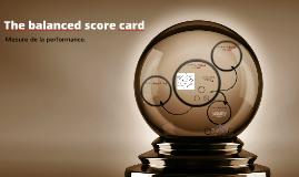 The balanced score card