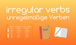 irregular verbs - unregelmäßige Verben im Engischen