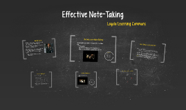 Copy of Effective Note-Taking