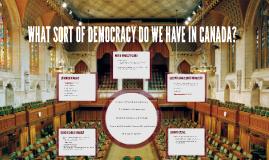 What sort of Democracy