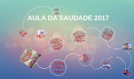AULA DA SAUDADE 2015