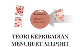 TEORI KEPRIBADIAN MENURURT ALLPORT