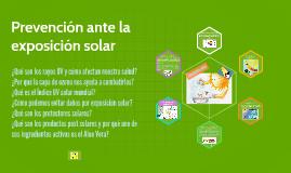 Prevención ante la exposición solar