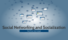 Social Networking and Socialization