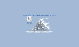 ANALISIS DE LA PROGRAMACIONCECOSF COLCURAENERO – MARZO201