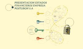 PRESENTACION ESTADO FINACIERO EMPRESA POSTOBON S.A