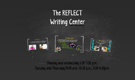 The REFLECT Writing Center