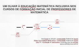 UM OLHAR À EDUCAÇÃO MATEMÁTICA INCLUSIVA NOS CURSOS DE FORMA
