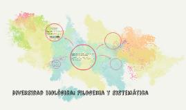 Diversidad Biológica: Filogenia y sistemática