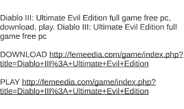 Diablo III: Ultimate Evil Edition full game free pc, downloa