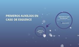 PRIMEROS AUXILIOS EN CASO DE ESGUINCES