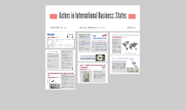 Actors in International Business: States