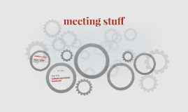 meeting stuff