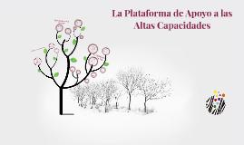 Qué es la Plataforma de Apoyo a las AACC?