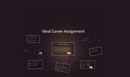 Career Presentation Assignment