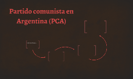 Partido comunista en Argentina (PCA)