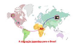 A imigração japonesa no Brasil