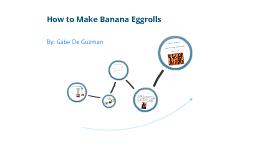 How to Make Banana Eggrolls