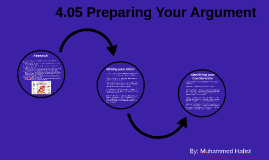 4.05 Preparing Your Argument