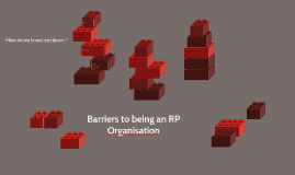 Barriers to being an RP Organisation