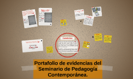 Portafolio de evidencias para la asignatura de Pedagogía Con