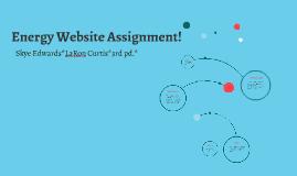 Energy Website Assignment!