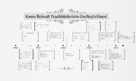 Copy of Kamu İktisadi Teşebbüslerinin Özelleştirilmesi