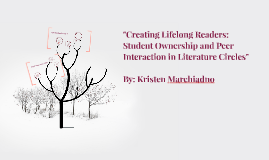 """Creating Lifelong Readers: Student Ownership and Peer Inter"