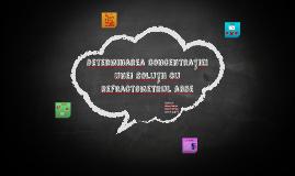 Determinarea concentrației unei soluții cu refractometrul ab
