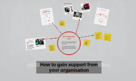 How to gain support from your organisation