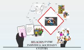 Copy of RELACION ENTRE INDIVIDUO, SOCIEDAD Y CULTURA