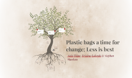 Plastic bags a time for change