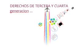 Copy of LOS DERECHOS DE TERCERA Y CUARTA GENERACIÓN
