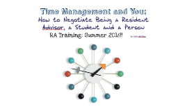 Time Management RA's 2016