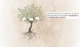 """""""implementación de sistema  de riego programable en el viver"""