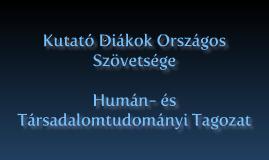 KutDiák-Humán Tagozat