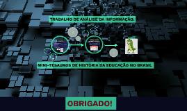 TRABALHO DE CONCLUSÃO DA DISCIPLINA ANÁLISE DA INFORMAÇÃO: